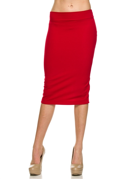 OTTOMAN PENCIL SKIRT - orangeshine.com