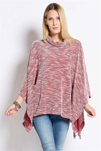 TURTLE NECK PONCHO - orangeshine.com
