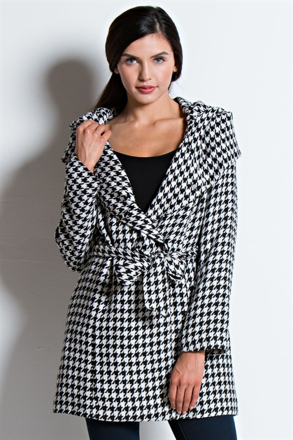 IMPORTED HOUNDS TOOTH  COAT - orangeshine.com
