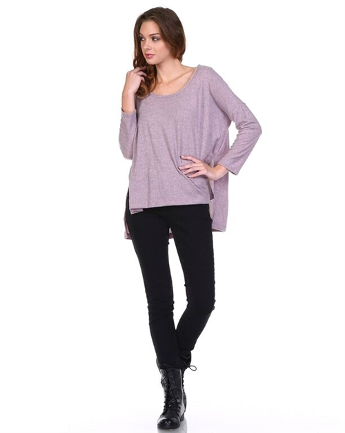 Wide Neck Dolman Long Sleeve - orangeshine.com