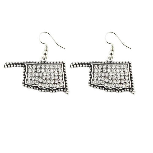 Crystal Covered  Earrings - orangeshine.com