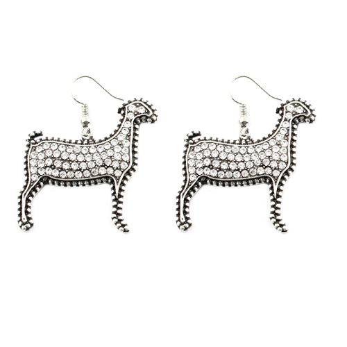 Crystal Covered Lamb Earrings - orangeshine.com