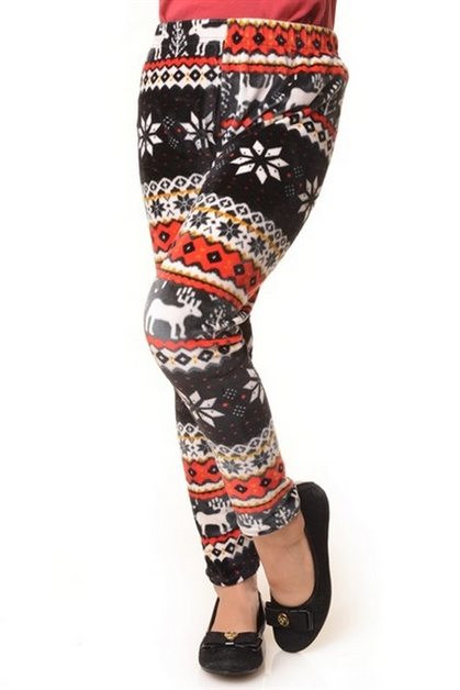 Velour Fleece Leggings - Kids - orangeshine.com
