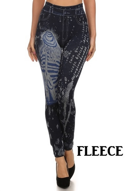 Sublimation jegging with fleec - orangeshine.com