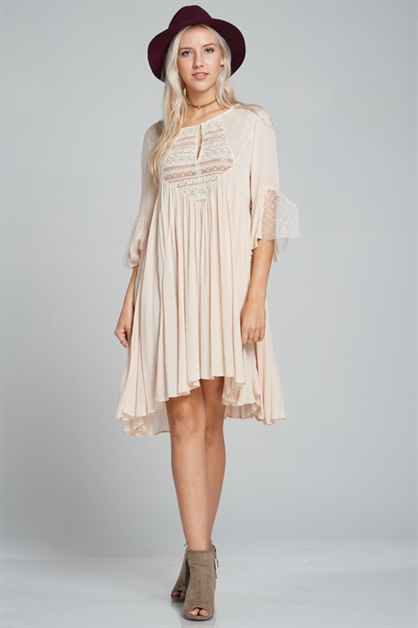 Princess lace crochet dress - orangeshine.com