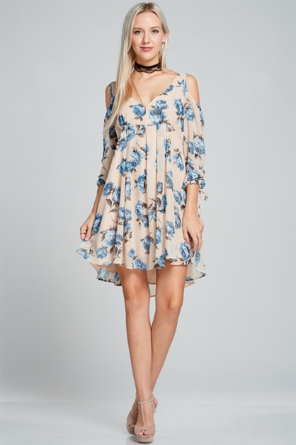 Flower print dress - orangeshine.com