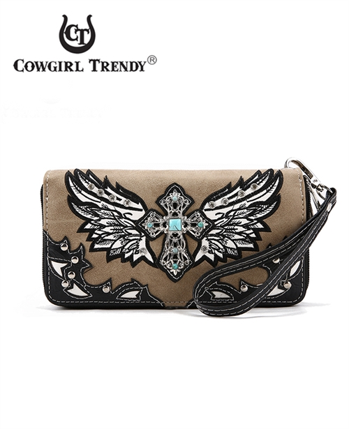 Stone Cross and Wings Wallet - orangeshine.com