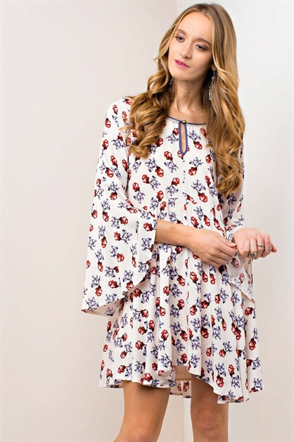 BELL SLEEVED DRESS - orangeshine.com