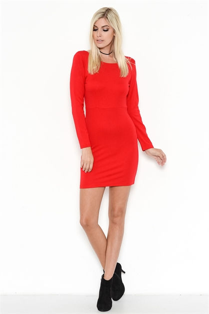 OPEN-BACK BODYCON DRESS - orangeshine.com