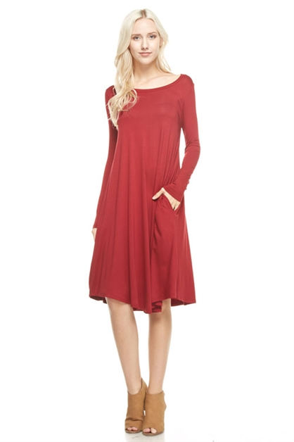flared midi-long dress - orangeshine.com
