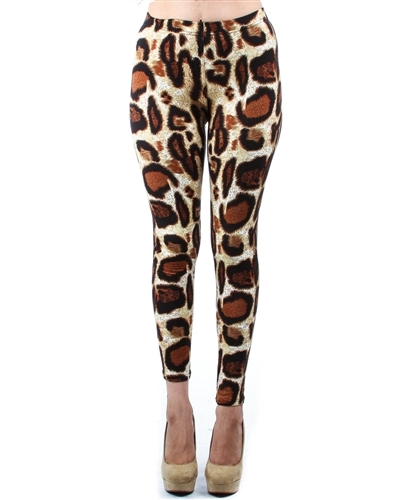 Leopard Print Fleece Lined Leg - orangeshine.com