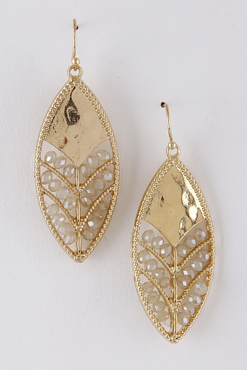 Leaf Shape Earrings - orangeshine.com
