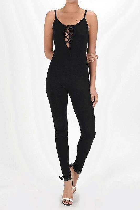 LACE TANK TO JUMPSUIT CATSUIT  - orangeshine.com