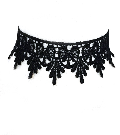 Black Lace Choker - orangeshine.com