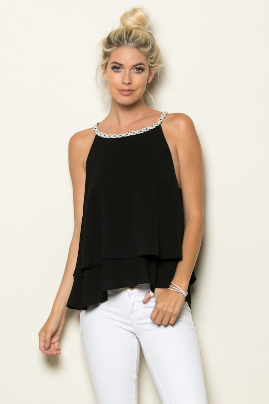 LAYERED TANK TOP - orangeshine.com