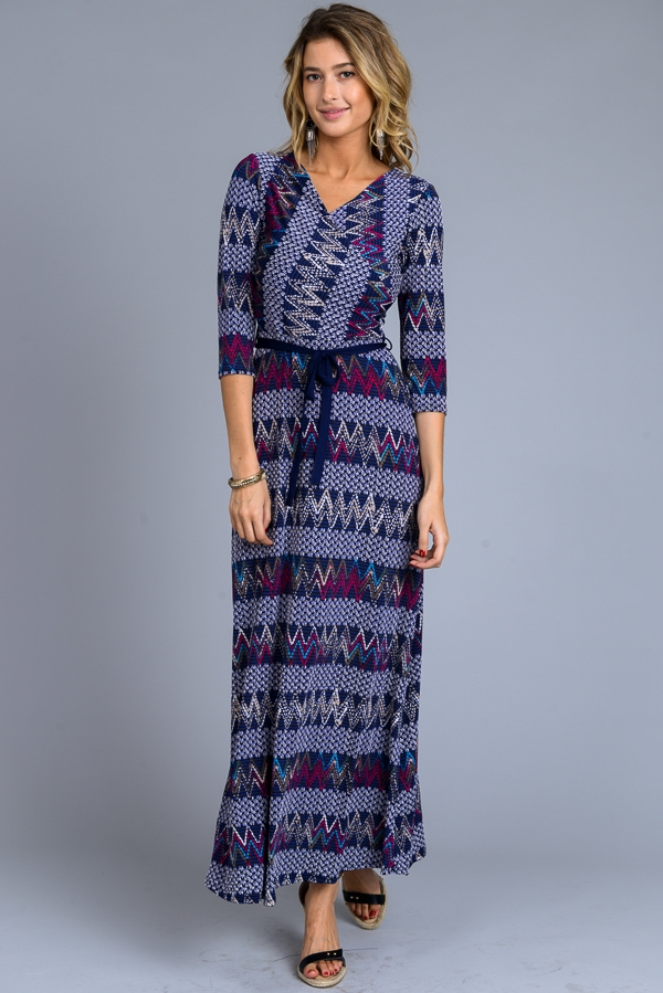 Printed Maxi Dress - orangeshine.com