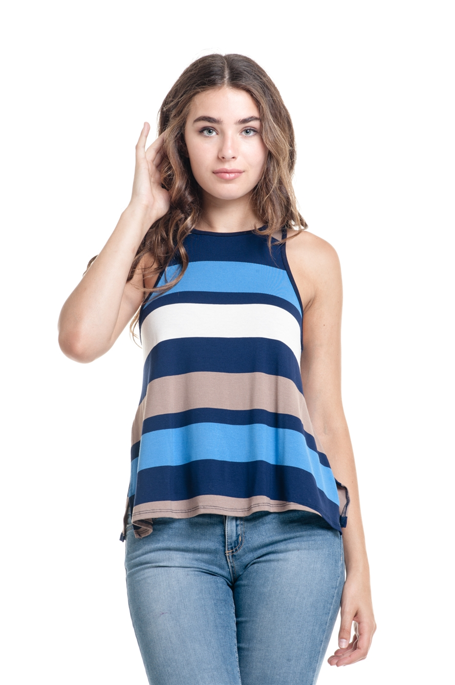 STRIPE RACER BACK TOP - orangeshine.com