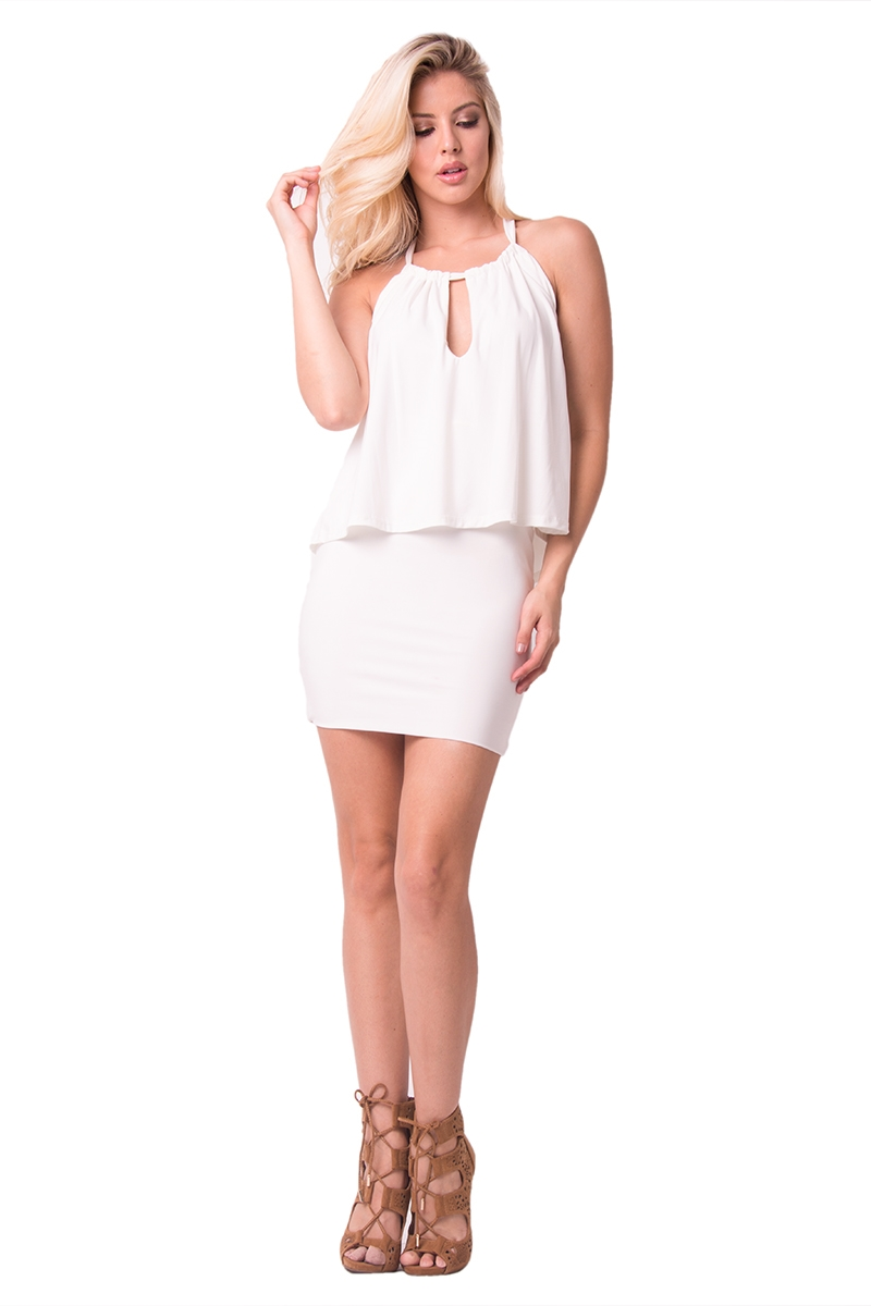 OVERLAY MINI DRESS - orangeshine.com