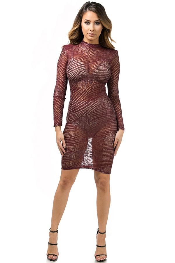 Foiled lace dress - orangeshine.com