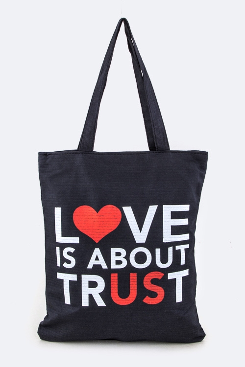 LOVE IS ABOUT Fashion Tote - orangeshine.com