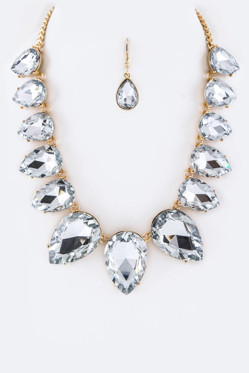 Crystal Collar Necklace - orangeshine.com