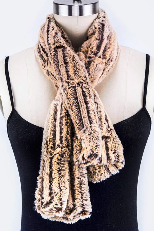 Metal Hooped Fur Scarf - orangeshine.com