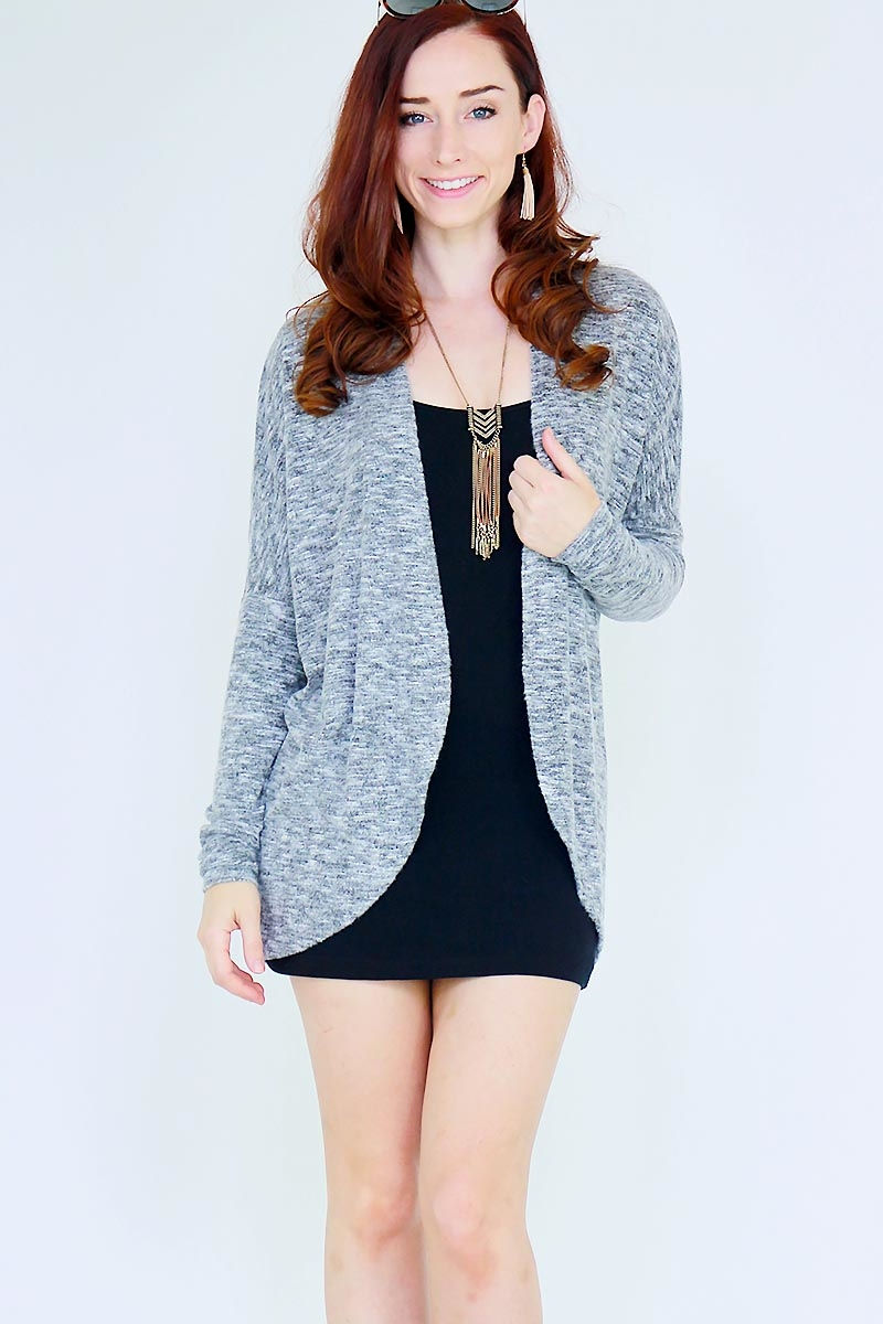 OPEN SIDE SWEATER CARDIGAN - orangeshine.com