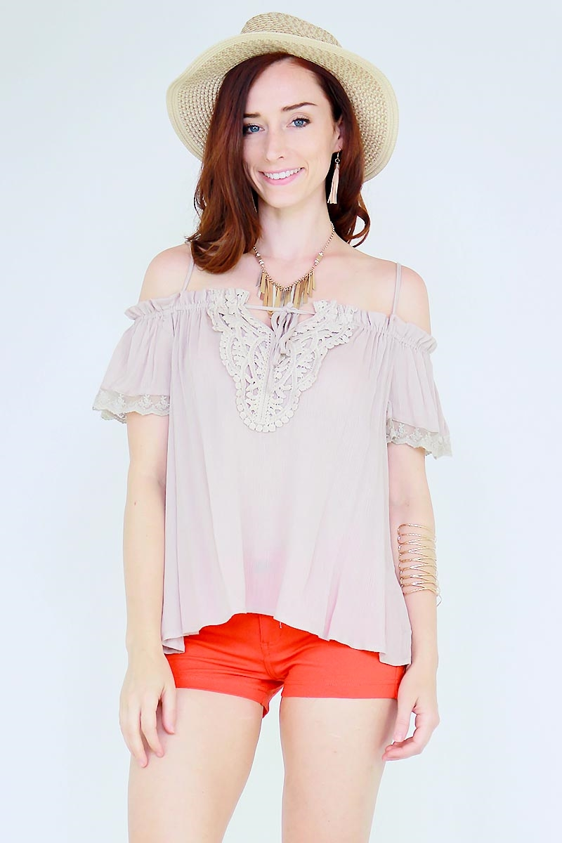 Cold shoulder top - orangeshine.com