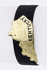Kentucky Map Stretch Hair Tie - orangeshine.com