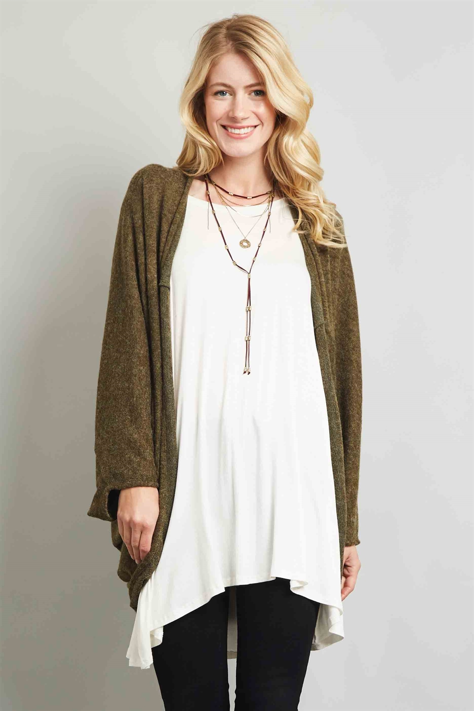 OPEN CARDIGAN - orangeshine.com
