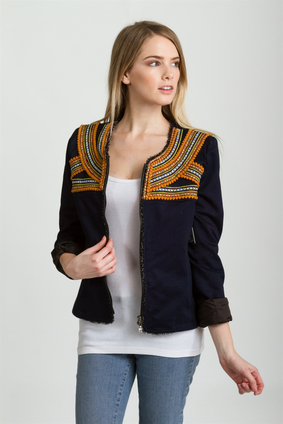 EMBROIDERED JACKET  - orangeshine.com