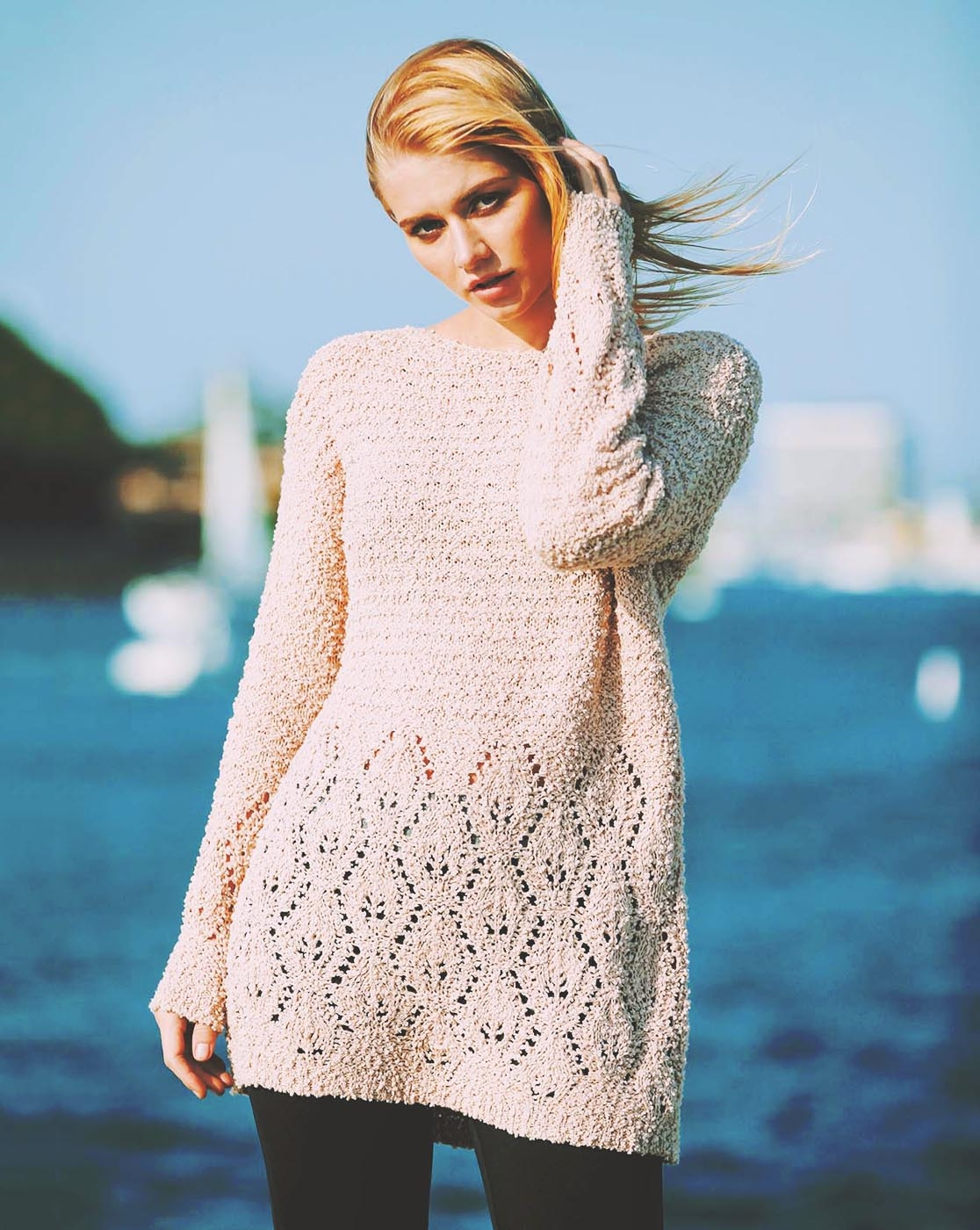 DEWDROP KNIT TUNIC SWEATER - orangeshine.com
