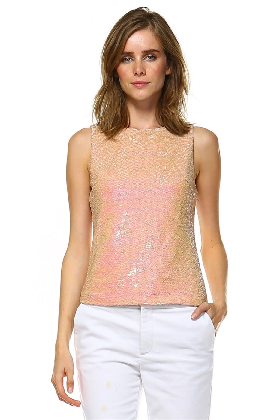 SEQUINS TOP  - orangeshine.com