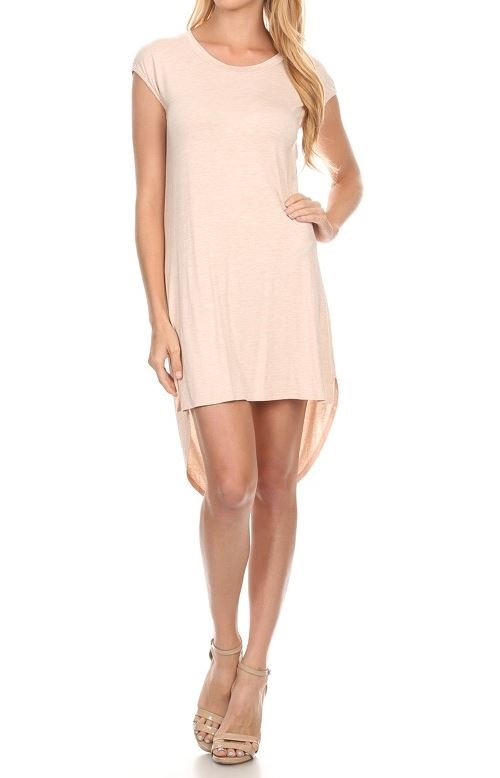 Solid sleeveless short dress - orangeshine.com