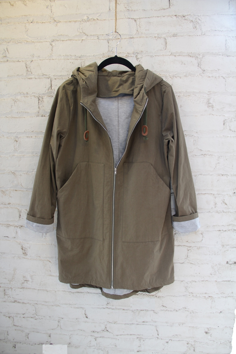 GREY COTTON ANORAK - orangeshine.com