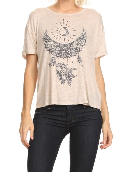 Tribal crescent moon top - orangeshine.com