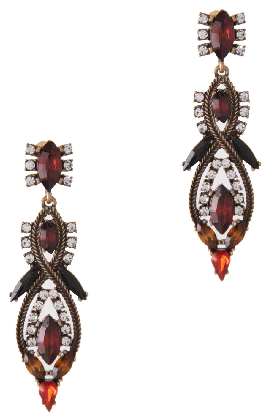 SPARKLING GEM DANGLE EARRING - orangeshine.com