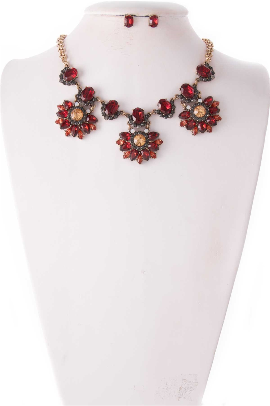 SHINY GEM NECKLACE SET - orangeshine.com