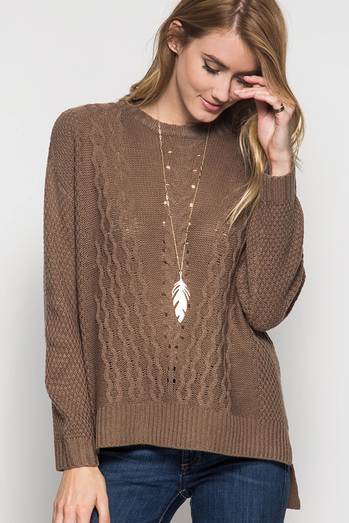 SL1321 KNITTED SWEATER TOP - orangeshine.com