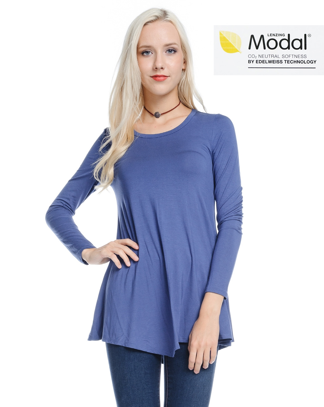 Modal Basic Tunic Top - orangeshine.com
