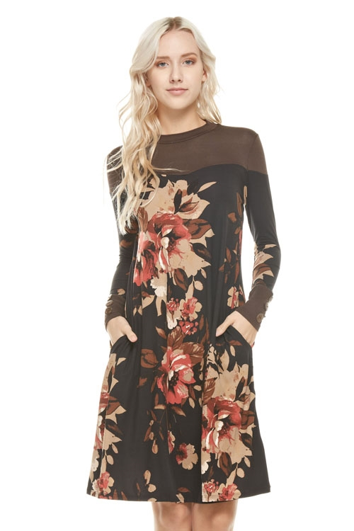 floral pocket dress - orangeshine.com