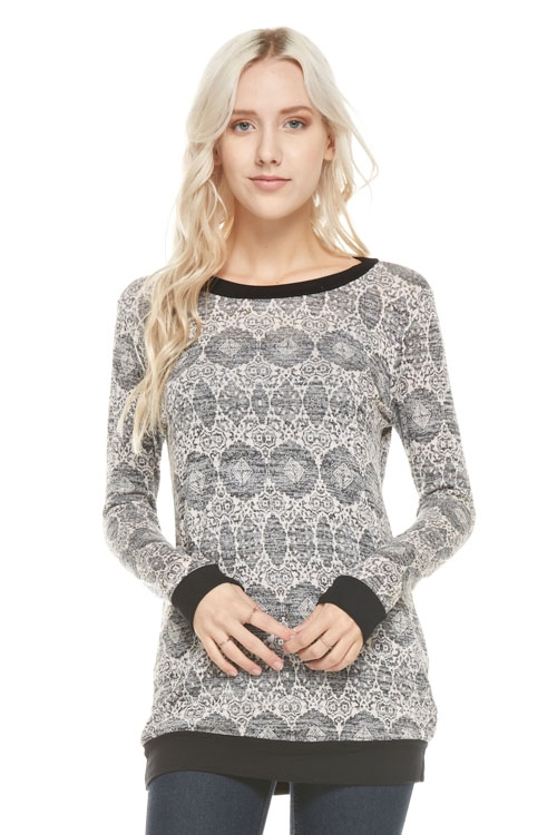aztec knit tunic top with soli - orangeshine.com
