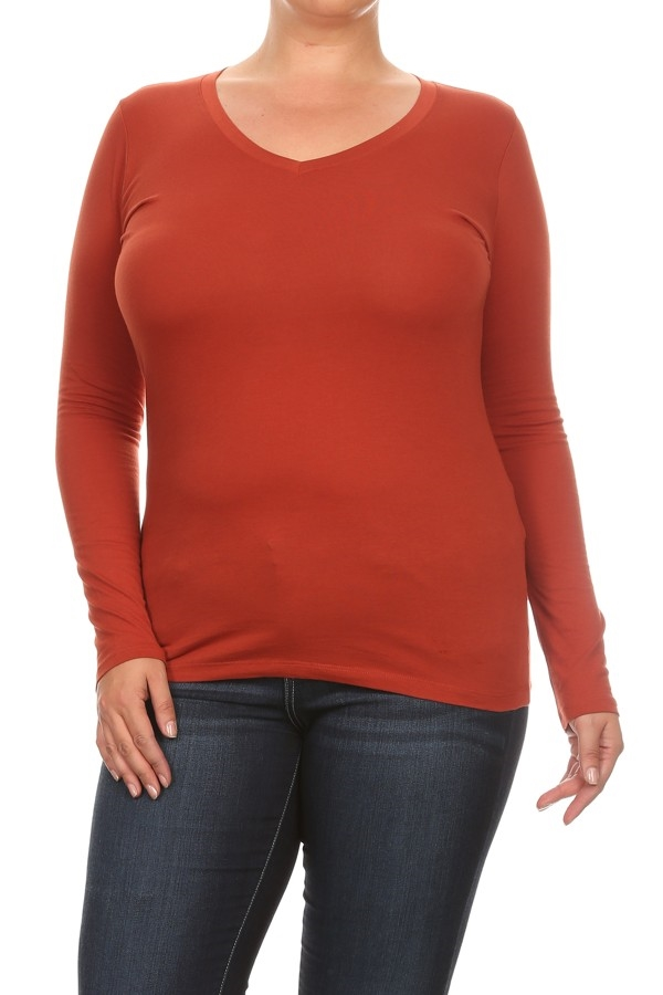 PLUS SIZE LONG SLEEVE TOP - orangeshine.com