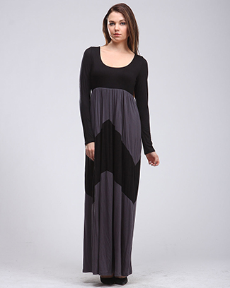 COLORBLOCK MAXI DRESS - orangeshine.com