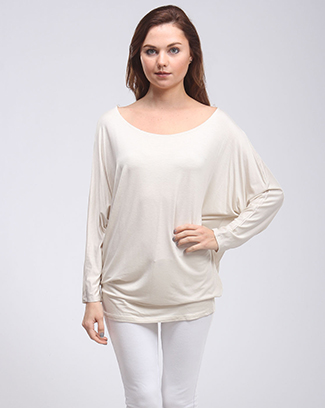 LONG SLEEVE DOLMAN TOP - orangeshine.com