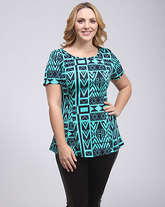SHOW OFF PRINT PEPLUM TOP - orangeshine.com