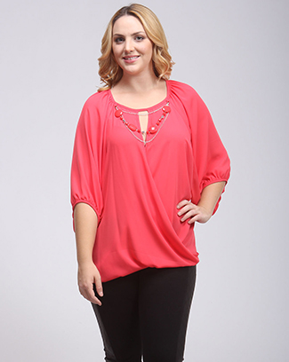 SURPLICE KEY HOLE TOP - orangeshine.com