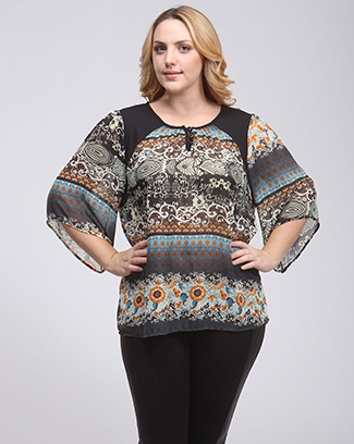 BAROQUE PRINT TOP - orangeshine.com