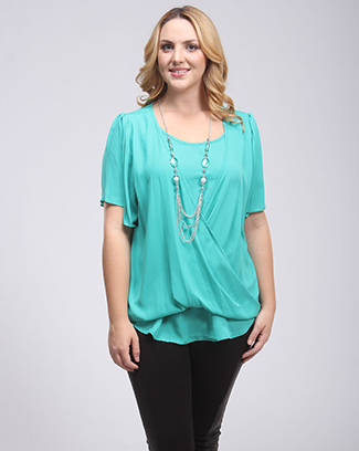 BLOUSE W. NECKLACE - orangeshine.com