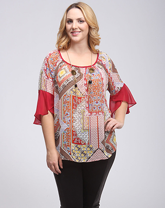 MULTI PRINT TOP - orangeshine.com
